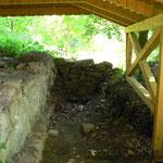 Überreste der Glashütte Kreuzhütte.