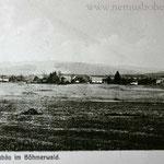 Neubäu-Novosedly. Oben rechts die Schule von Mauthaus, daneben die Wirtslinde.