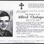 Todesanzeige für einen bei Neu-Hurkenthal (Nová Hůrka) bei Haidl (Zhůří) / Stubenbach (Prášily) gefallenen deutschen Soldaten.