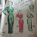 Robe femme début 1950
