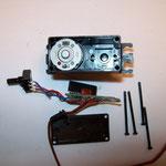 Elektronik mit Potentiometer aus dem Gehäuse entfernt