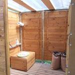 Toilette sèche avec accès PMR (Personnes à Mobilité Réduite) lors du Festival Debussy 2014 (Argenton-sur-Creuse)