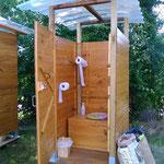 Toilette sèche classique lors du Trail des Ragondins 2014 (Cantenay-Épinard)