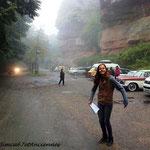 ... arrivée dans le brouillard, la pluie, et même le froid.