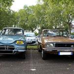 Duo Citroën Ami6 et Renault 12
