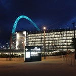 Wembley Stadion in unmittelbarer Nähe unseres Hotels