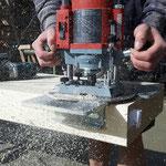 Fräsen von unsichtbaren Holzverbindungen