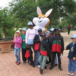 In the Bird Park with Easter Bunny