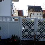 Sichtschutz Wilsede Douglasie in Color weiß