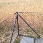 Maschendrahtzaun - Ecken werden verstrebt