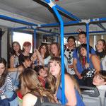 Dans les bus vers l'avion d' Air Berlin