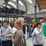 Les adieux à la gare de Kiel.