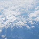 Survolant le Mont Blanc.