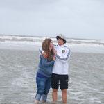 Vicente et Ana à la plage de St. Peter Ording