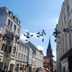 Rue piétonne à Flensburg.