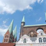 Hôtel de ville de Lübeck.