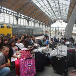 À la gare de Lübeck.