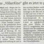 19.08.2020, Wiesbadener Kurier: Völkerkino ToGo