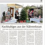 07.12.2020, Wiesbadener Kurier: Nähwerkstatt 4Freude - Adventsverkauf