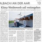 11.03.2020, Wiesbadener Kurier: Klasse Klima Wettbewerb, Schirmherrschaft der Philipp-Kraft-Stiftung