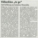 20.08.2020, Rheingau Echo: Völkerkino ToGo