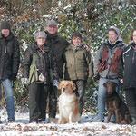 Ein Teil unserer Trainingsgruppe nach einem Training im Schnee