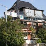 Energetische Sanierung während der Bauphase