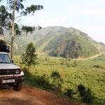Auf dem Weg in den Bwindi Nationalpark