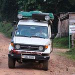 Wir haben es geschafft - Nkuringo - hier hoffen wir die Berggorillas zu finden