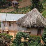 Afrikanische Wohnkultur, im Süden noch mit gemauerten Wänden