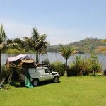 Unser erstes Ziel: der idyllische Lake Bunyonyi