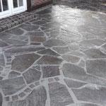 Natursteinarbeiten Porphyr Polygonalplatten Garten- und Landschaftsbau Gröne Dinklage