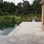 Terrassen Travertin Naturstein römischer Verband