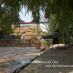Wasserstein im Wasserlauf Ort der Entspannung