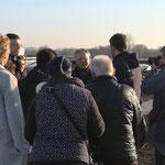 hinten li. Dirk Lütvogt, mit Stephan Weil, Besuch von Ministerpräsident Stephan Weil Biodiversitäts-Gründach Friedrich Lütvogt GmbH & Co. KG
