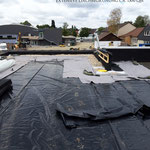 Extensive Dachbegrünung Kindergarten  Garten- und Landschaftsbau Gröne