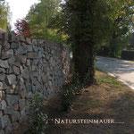 Piesberger Natursteinmauer Sicht- und Schallschutz
