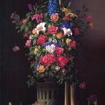 Das große Blumenbild, 90 x 120 cm, 1981, Öl/Tempera, Mischtechnik