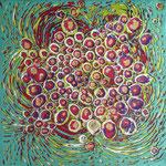 Ohne Titel - Mischtechnik Acryl auf Leinwand 20x20 cm (2015)