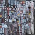 Papier No. 01 Guache und Metall auf Papier  29x29 cm