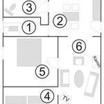 Grundriß Wohnung 1