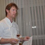Chris Pepper beim Vorstellen der Malts und der Whisky