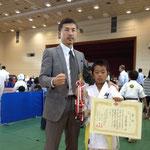 小学3年生上級の部/Categoria 8anos avançado 3位 内田彪太郎 / Terceiro colocado Kotaro Uchida