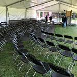 opzetten stoelen woensdag 14 augustus
