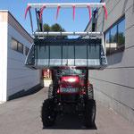 ecopard Kompakttraktor mit Kabine + Frontlader + Krokoschaufel