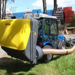 ecopard Kompakttraktor mit Sichelmäher + Grasauffangkorb