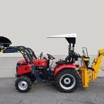 ecopard Kleintraktor eco25-cs mit Frontlader und Heckbagger