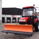 ecopard Kompakttraktor mit Kabine + Schneeschild