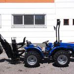 ecopard Allrad-Kleintraktor mit Heckbagger