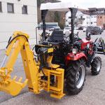 ecopard Kleintraktor eco25-cs mit 4x4 Antrieb und Heckbagger